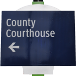 full to court house sign